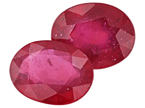 Photo of Matched pair of Mahaleo® ruby min 6.50ctw 10x8mm oval