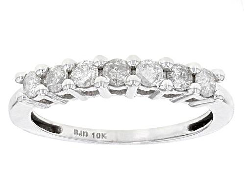 Photo of .50ctw Round White Diamond 10k White Gold Ring - Size 9