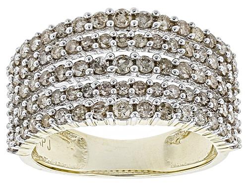 Photo of 1.00ctw Round White Diamond 10k Yellow Gold Ring - Size 6