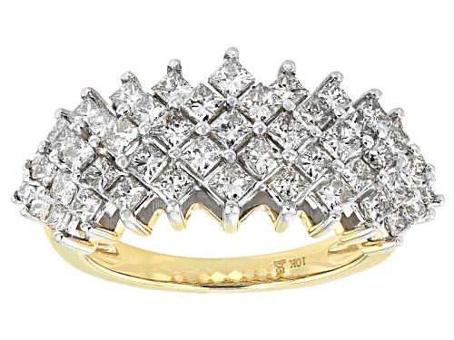 Photo of 2.00ctw Princess Cut Diamond 10k Yellow Gold Ring - Size 8