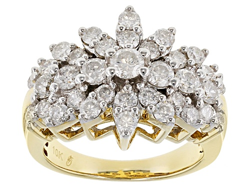 Photo of 2.04ctw Round White Diamond 10k Yellow Gold Ring - Size 8
