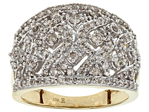 Photo of 1.00ctw Round Diamond 10k Yellow Gold Ring - Size 9