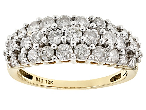Photo of 1.55ctw Round White Diamond 10k Yellow Gold Ring - Size 8