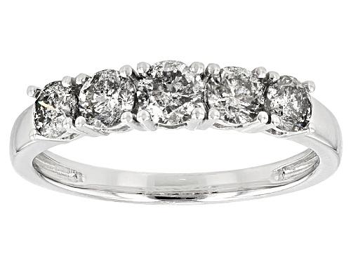 Photo of 1.02ctw Round White Diamond 10k White Gold Ring - Size 8