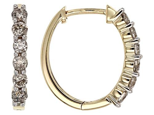 Photo of .63ctw Round Diamond 14k Yellow Gold Earrings