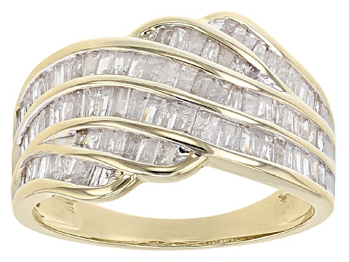 Photo of 1.00ctw Baguette White Diamond 10k Yellow Gold Ring - Size 8