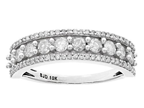 Photo of .85ctw Round White Diamond 10k White Gold Ring - Size 5