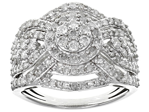 Photo of 1.50ctw Round White Diamond 10k White Gold Ring - Size 9
