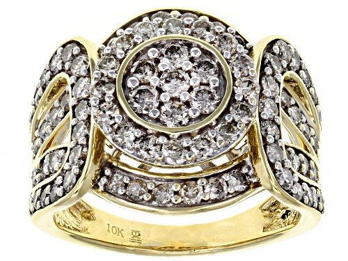 Photo of 1.50ctw Round Candlelight Diamonds™ 10k Yellow Gold Ring - Size 11