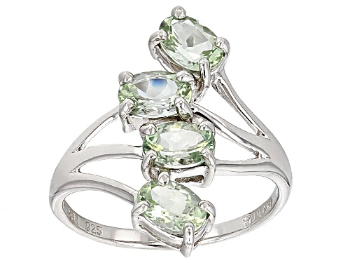 Photo of 1.36ctw Oval Amblygonite 4-Stone Sterling Silver Ring - Size 8
