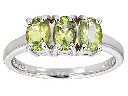Photo of 1.02ctw Oval Amblygonite 3-Stone Sterling Silver Ring - Size 11