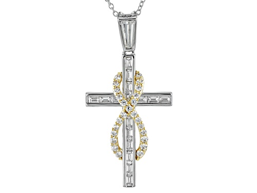 "Photo of Bella Luce® Rhodium Over Sterling & Eterno ™ Yellow ""Eternal Faith"" Pendant"