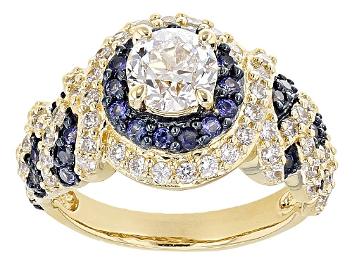 Photo of Bella Luce® 2.26ctw Diamond Simulant & Lab Created Sapphire Eterno™ Ring - Size 12