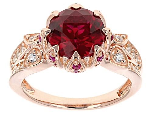 Photo of Bella Luce®3.74ctw Lab Create Ruby & White Diamond Simulant Eterno™Rose Ring - Size 5