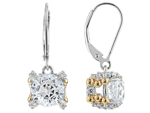 Bella Luce®Diamond Simulant Rhodium Over Silver & Eterno™Yellow Earrings