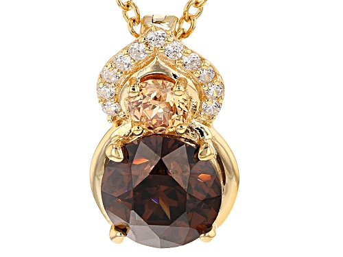 Photo of Bella Luce ® 4.04ctw Champagne, Mocha, White Diamond Simulants Eterno™ Yellow Pendant With Chain