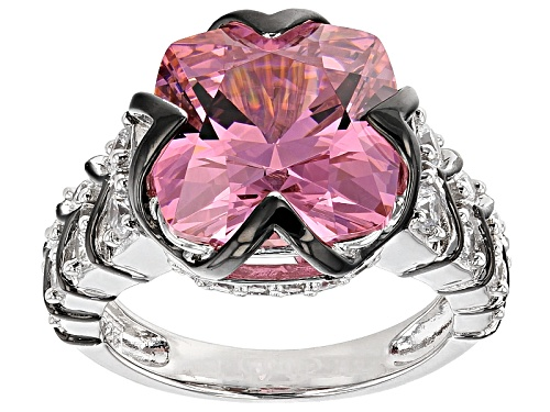 Photo of Bella Luce®12.83ctw Pink And White Diamond Simulants Rhodium Over Silver Ring - Size 6