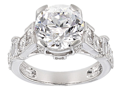 Photo of Bella Luce ® 8.81ctw White Diamond Simulant Rhodium Over Sterling Silver Ring - Size 10