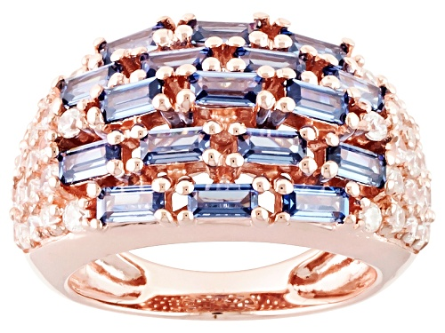 """Photo of Bella Luce®4.32ctw Tanz/Wht Diamond Simulants Eterno ™ Rose """"Footsteps"""" Ring - Size 8"""