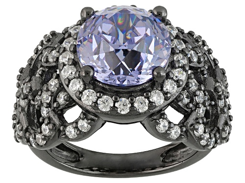 Photo of Bella Luce®Lavender & Diamond  Simulants Black Rhodium Over Sterling Ring - Size 6