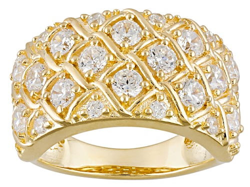 Photo of Bella Luce® 2.87ctw, Diamond Simulant, Eterno ™ Yellow Gold Over Sterling Silver Ring - Size 5