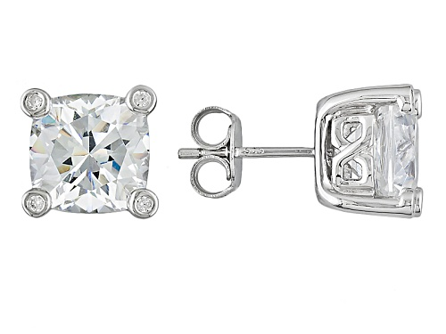 "Photo of Bella Luce® 11.09ctw Rhodium Over Sterling Silver ""Cushion Eternity"" Earrings"