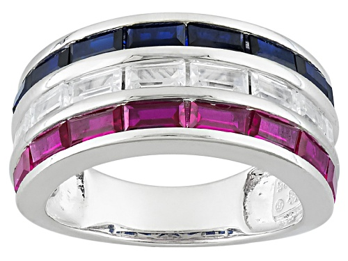 Photo of Bella Luce® 3.16ctw Multigem Simulant Rhodium Over Sterling Ring - Size 5