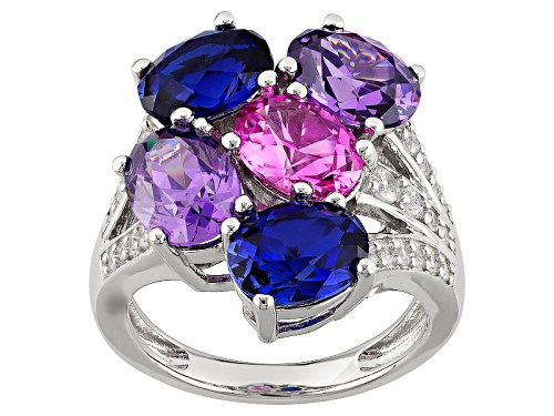 Photo of Bella Luce® 9.03ctw Multigem Simulants Rhodium Over Sterling Ring - Size 11