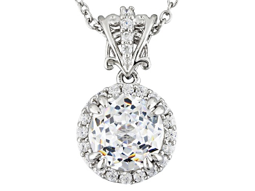 Photo of Bella Luce® 5.22ctw White Diamond Simulant Rhodium Over Sterling Silver Pendant With Chain