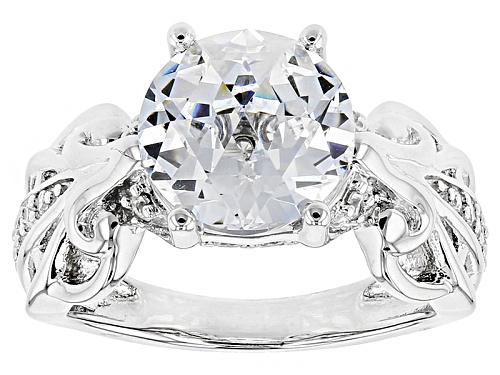 Photo of Bella Luce® 6.95ctw White Diamond Simulant Rhodium Over Sterling Silver Ring - Size 11
