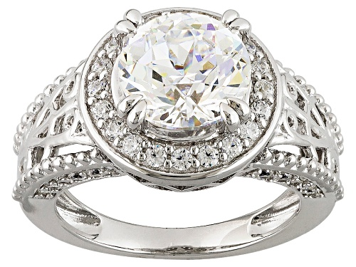 Photo of Bella Luce® 5.49ctw White Diamond Simulant Rhodium Over Sterling Ring - Size 5