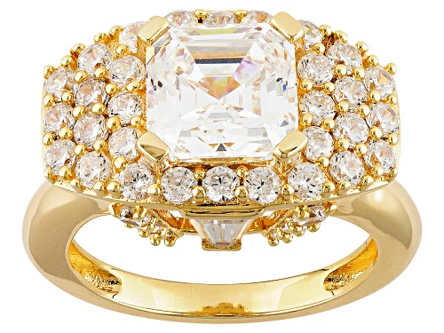 "Photo of Bella Luce® 7.62ctw, Diamond Simulant, Eterno ™ Yellow ""Highrise"" Ring - Size 7"
