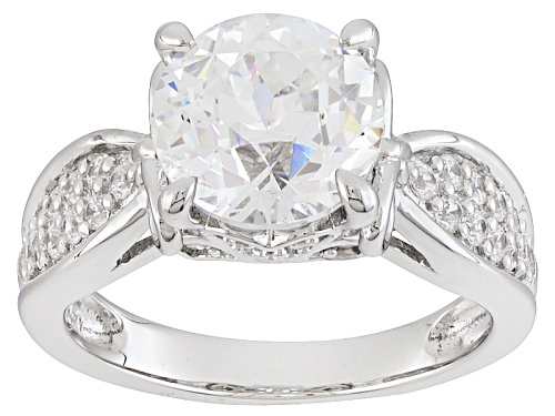 Photo of Bella Luce®5.24ctw Diamond Simulant Rhodium Over Sterling Silver Ring - Size 7