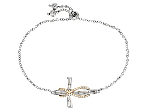 Photo of Bella Luce®2.30ctw Rhodium Over Sterling & Eterno™ Yellow Adjustable Bracelet