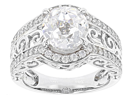 Photo of Bella Luce®5.53ctw White Diamond Simulant Rhodium Over Silver Ring - Size 8