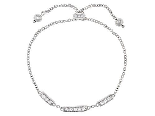 Photo of Bella Luce® .88ctw Diamond Simulant Rhodium Over Silver Adjustable Bracelet