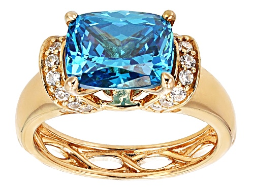 Photo of Bella Luce ® 5.91CTW Esotica™Neon Apatite & Diamond Simulants Eterno™ Rose Gold Over Silver Ring - Size 11