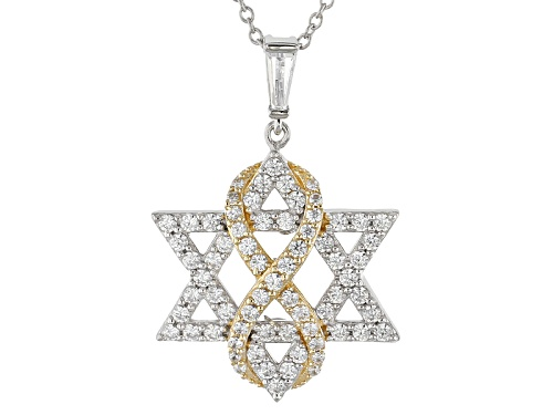 Photo of Bella Luce®Diamond Simulant Rhodium Over Silver & Eterno™Yellow Pendant