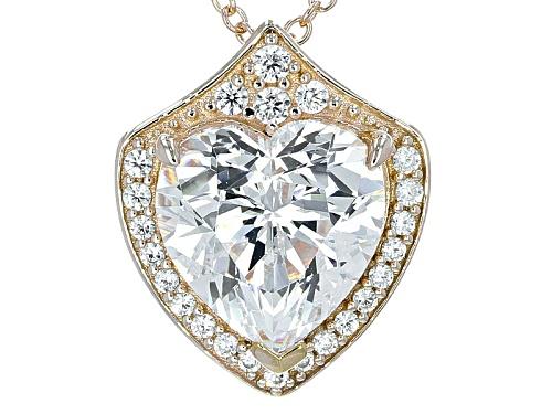 "Photo of Bella Luce® 10.10ctw Diamond Simulant Eterno™ Yellow ""Love Shield"" Pendant"