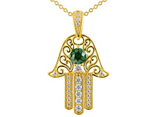 Photo of Bella Luce® Emerald & Diamond Simulants Eterno ™ Yellow Pendant With Chain