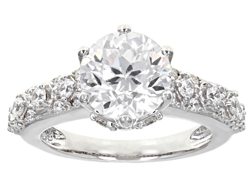 Photo of Bella Luce®5.80CTW  White Diamond Simulant Rhodium Over Silver Ring - Size 8