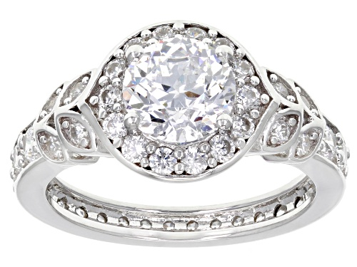 Photo of Bella Luce®3.95CTW  White Diamond Simulant Rhodium over Silver Ring - Size 9