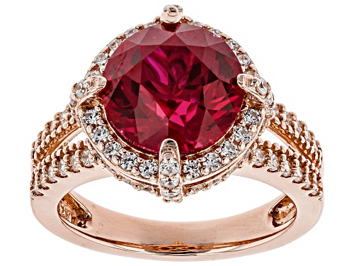 Photo of Bella Luce®5.93CTW Lab Created Ruby & White Diamond Simulant Eterno™Rose Ring - Size 12