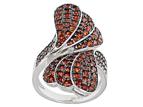 Photo of 3.29ctw Round Vermelho Garnet™ Sterling Silver Bypass Ring - Size 5