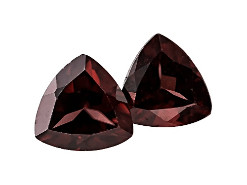Photo of Tanzanian Red Zircon Matched Pair Of Avg 2.25ctw 6mm Trillion