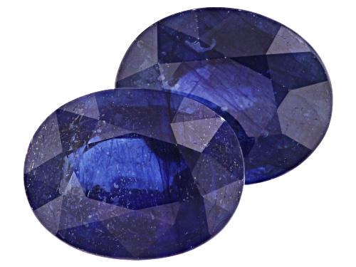 Photo of Matched pair of Mahaleo® sapphire min 6.50ctw 10x8mm oval