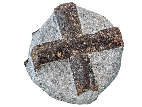 Photo of Russian Staurolite Approx 2 To 3 Centimeter Free Form Cross Specimen