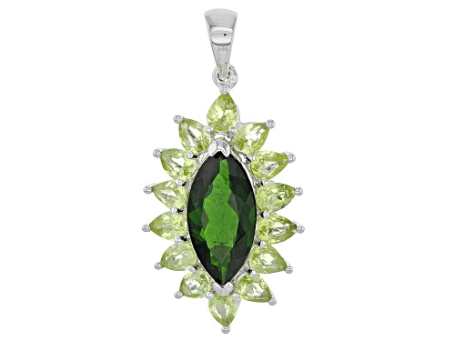 Photo of Green Peridot Sterling Silver Pendant 3.87ctw