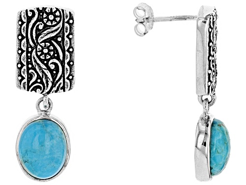 Turquoise Sterling Silver Floral Earrings