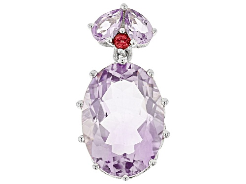 Photo of Purple Amethyst Sterling Silver Pendant 5.01ctw